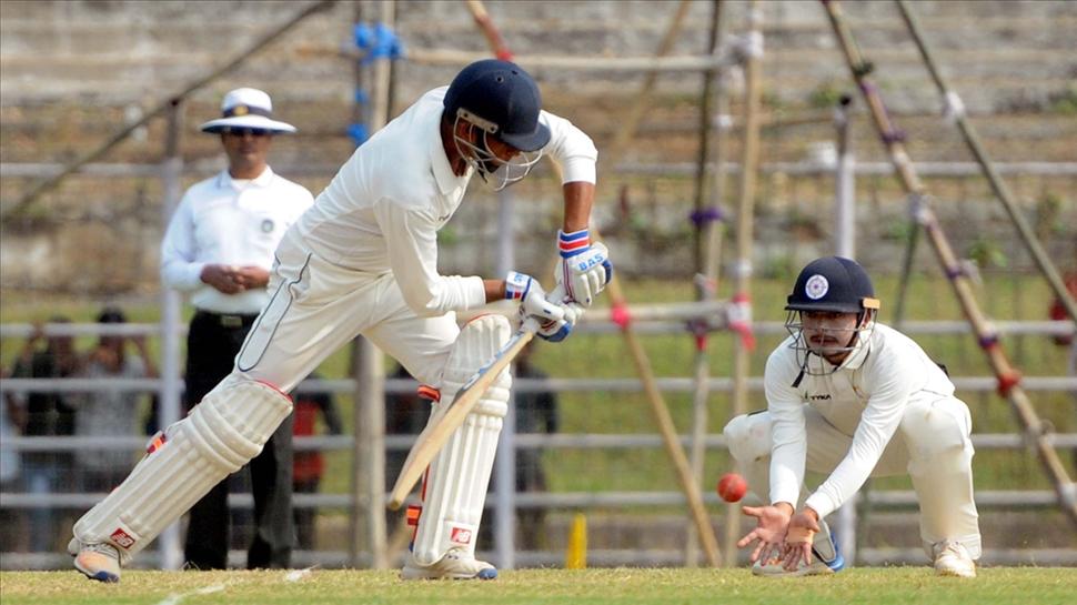 Bihar batsman in action during a Ranji Trophy match between Bihar and Sikkim