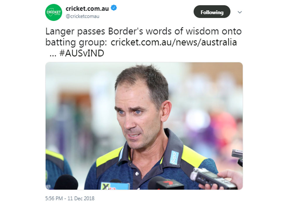 justin  langer on Australia Adelaide defeat