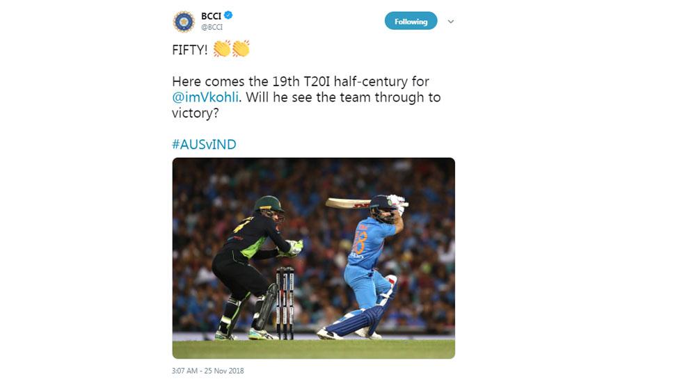 Virat kohli 50 in Sydney