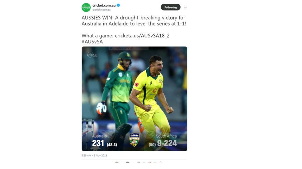 Aus vs SA Adelaide ODI