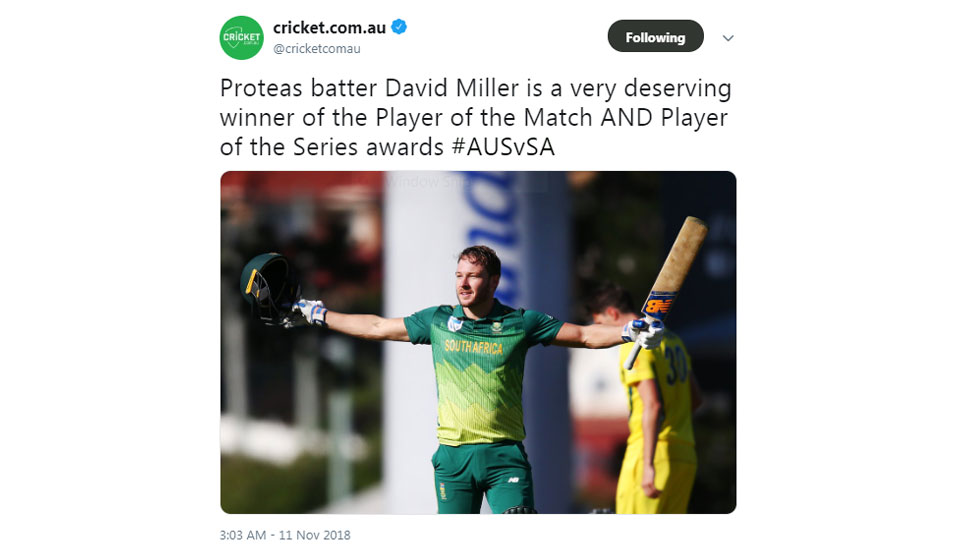 david miller hitting ton