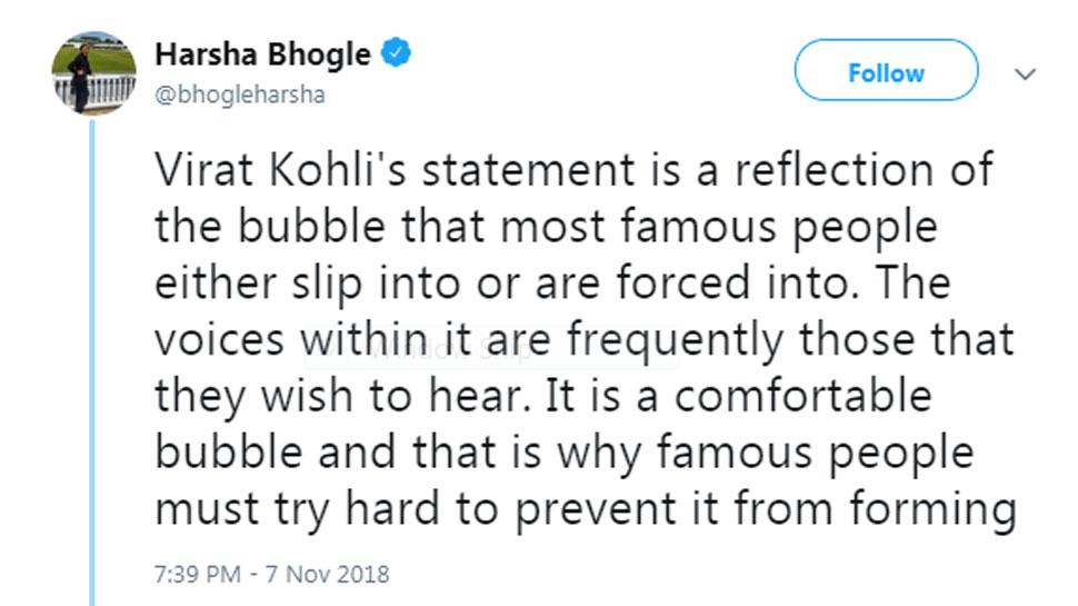 Harsha bhogle tweet