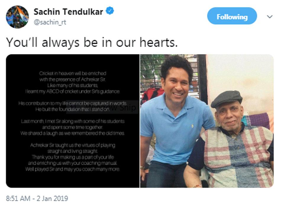 Sachin on Ramakant Achrekar