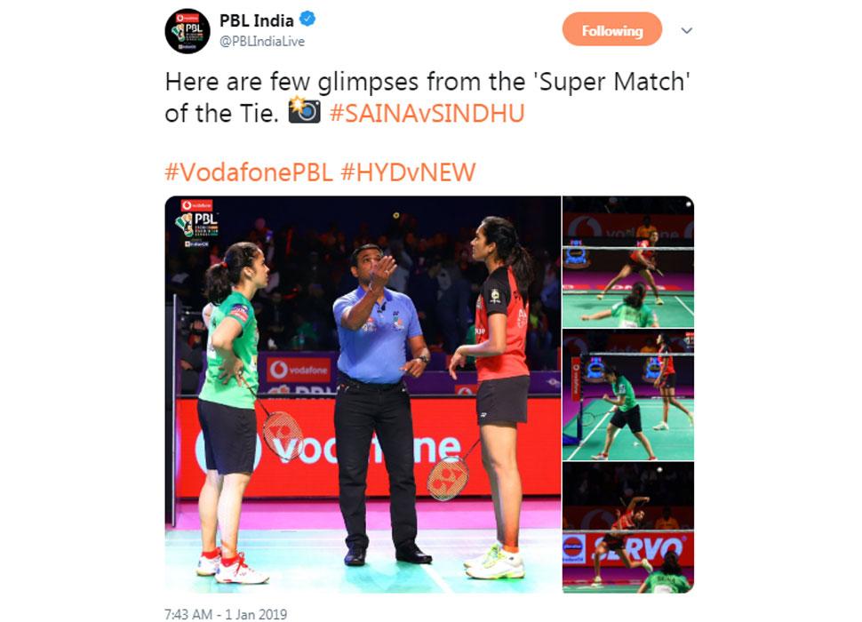 PV Sindhu beats Saina Nehwal in PBL