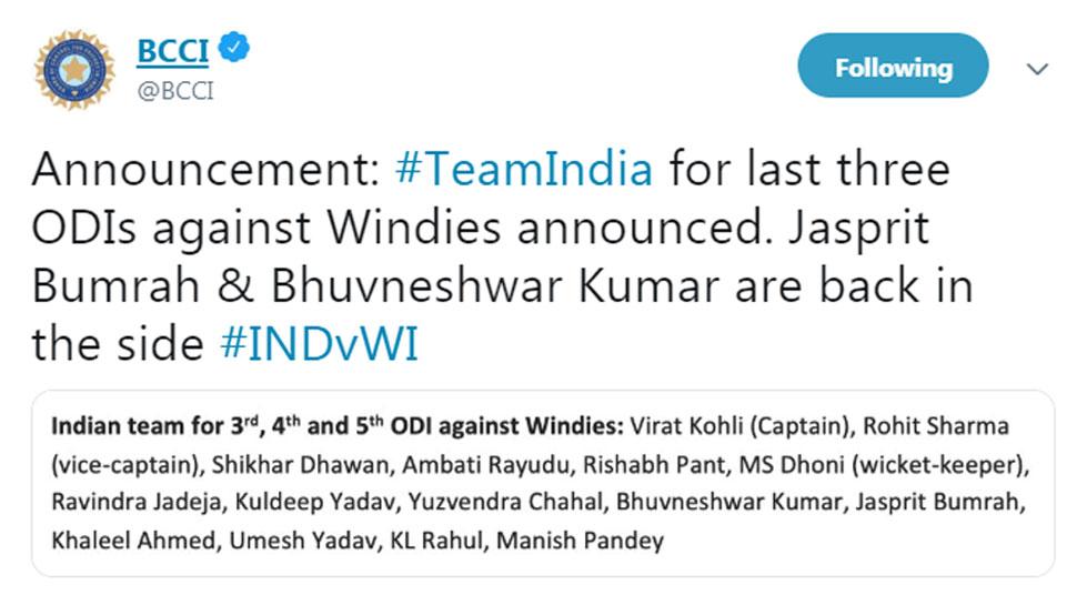 Team India Declaration