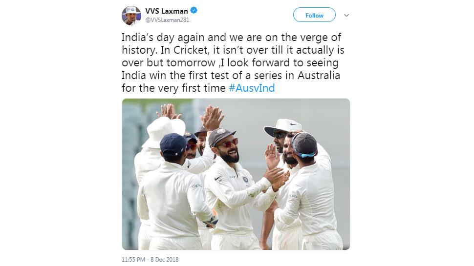 VVS laxman on Adelaide win