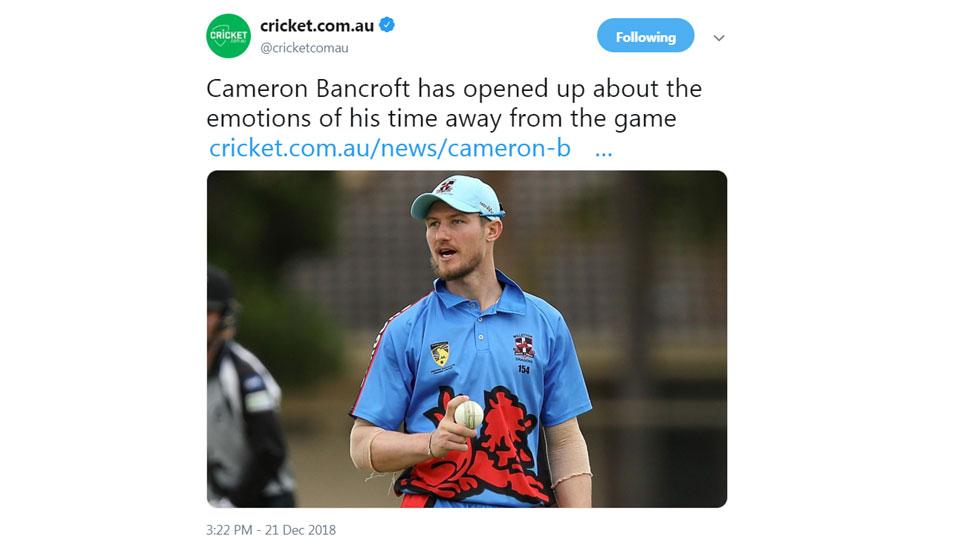 Camren Bancroft on his 9 month ban period