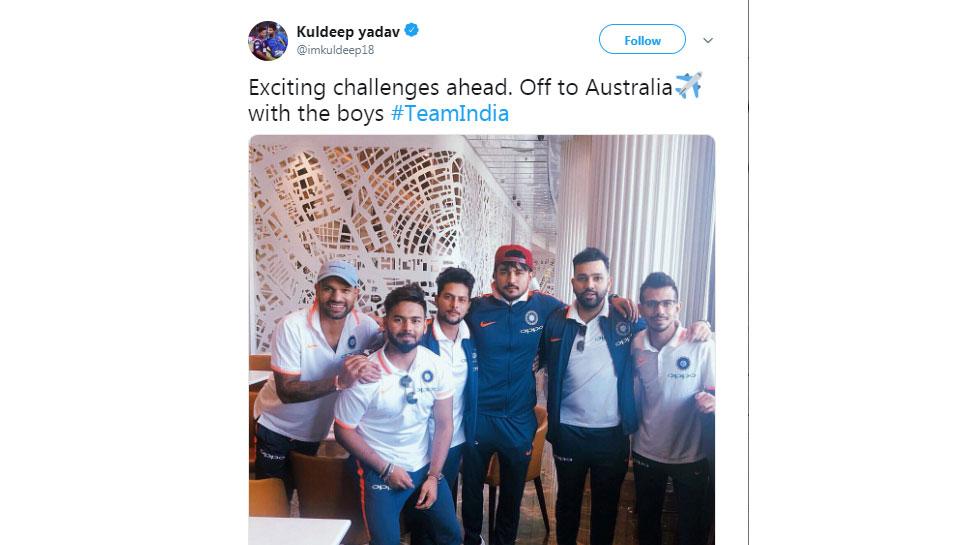 kuldeep Yadav leaving for Australia tour