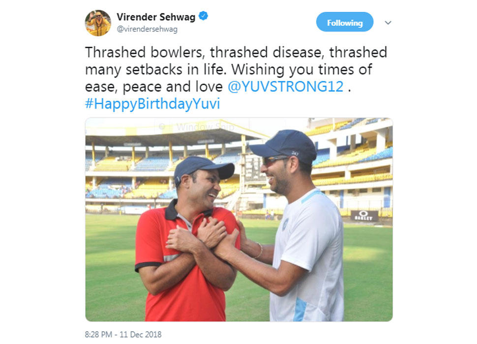 Sehwag wishes for Yuvi