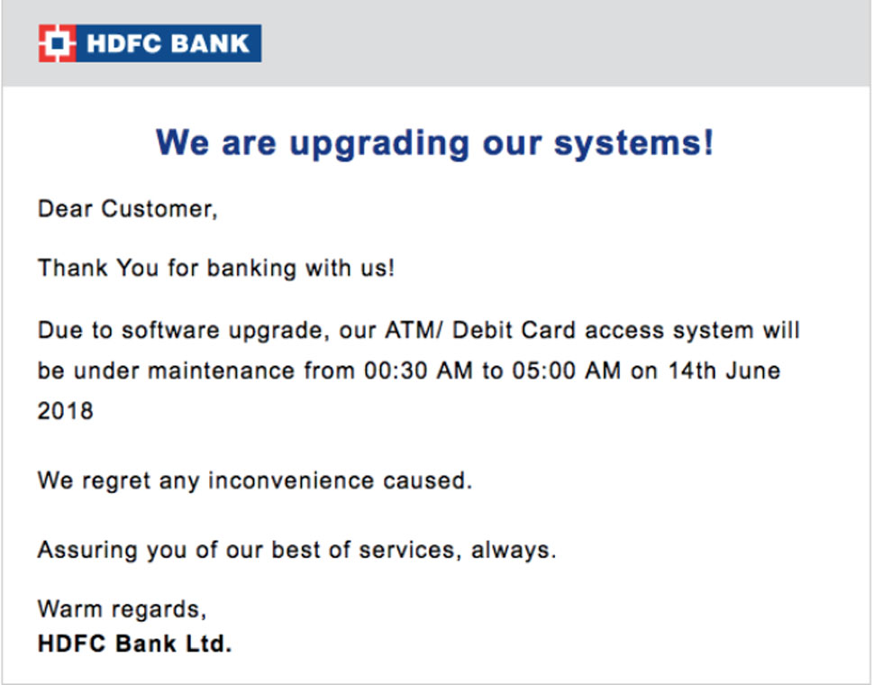 एचडीएफसी बैंक, HDFC Bank, HDFC debit Card holder, Important alert for HDFC, maintenance system