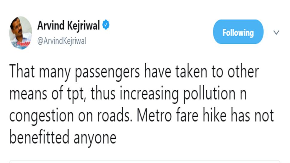 kejriwal, metro