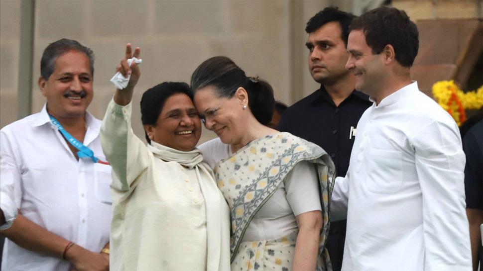 mayawati and sonia gandhi