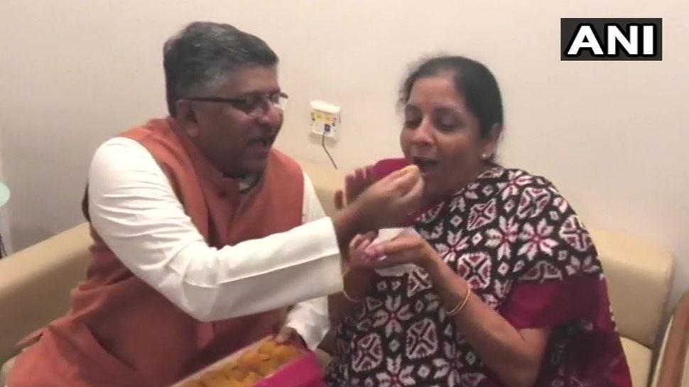 Ravi Shankar Prasad and Nirmala Sitharaman