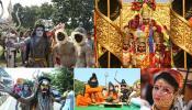 तस्वीरों में देखें अयोध्या के दिवाली उत्सव का विहंगम दृश्य, 'पुष्पक विमान' से पहुंचे भगवान राम-सीता