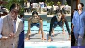 Tanishaa Mukerj at swimming event Amitabh Bachchan Anushka Sharma return Home