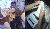 VIDEO : भक्ति संगीत में होने लगी नोटों की बरसात, रुपये गिनने के लिए लगानी पड़ी मशीन