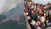 माता वैष्णोदेवी के जंगलों में लगी भयानक आग, हजारों यात्री फंसे