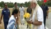 CM of West Bengal receives Prime Minister Narendra Modi at Kolkata airport