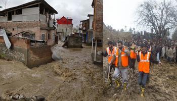 जम्मू-कश्मीर फिर बाढ़ की चपेट में; 7 की मौत, राहत एवं बचाव कार्य जारी