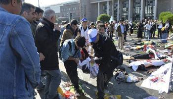 तुर्की की राजधानी अंकारा में शांति मार्च पर बमों से हमला, 86 लोगों की मौत