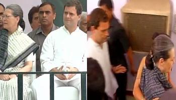 दिल्ली में कांग्रेस का `लोकतंत्र बचाओ` मार्च: सोनिया और राहुल ने दी गिरफ्तारी, फिर किए गए रिहा