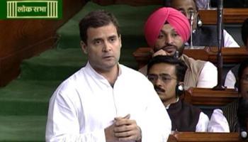 संसद में राहुल का मोदी पर हमला, बोले- महंगाई कम करने की तारीख बताएं PM