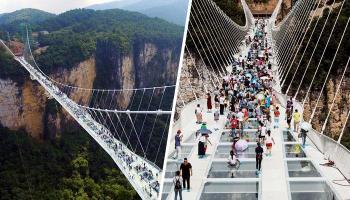देखें एक अजूबे शीशे का पुल, इस पर चलने का साहस करेंगे?