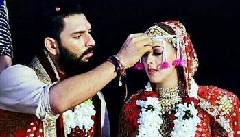 गोवा में युवराज की शादी, क्रिकेट और बॉलीवुड की हस्तियां हुईं शामिल