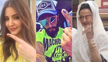 बीएमसी चुनाव 2017: फिल्मी सितारों ने डाले अपने वोट