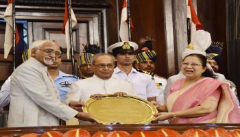 विदाई भाषण में राष्ट्रपति मखर्जी ने की PM मोदी की प्रशंसा, कहा-मधुर यादें अपने साथ लेकर जाऊंगा