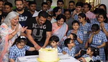 राजस्थान : दिव्यांग बच्चों के साथ सलमान ने की मस्ती, केक काटकर कहा-BYE