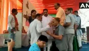 VIDEO: सीएम वसुंधरा राजे की मौजूदगी में मंच पर ही भिड़ गए बीजेपी नेता
