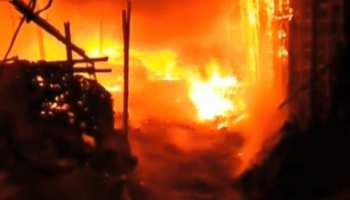 धनबाद: कचड़ा गोदाम में लगी भीषण आग, आस-पास की दुकानें जलकर हुई खाक