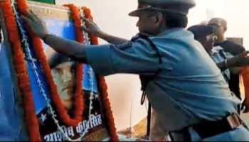 शहीद आशीष कुमार को श्रद्धांजलि देने पहुंचे DGP, कहा- 'वीरता पदक की करेंगे अनुशंसा'
