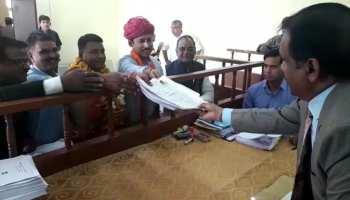 राजस्थान चुनाव: बीजेपी प्रत्याशी कुमावत के नामांकन के लिए राज्यवर्धन राठौड़ पहुंचे फुलेरा