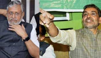 बिहार NDA में बढ़ी तकरार, सुशील मोदी ने उपेंद्र कुशवाहा को दिया जवाब-'धमकी बर्दाश्त नहीं'