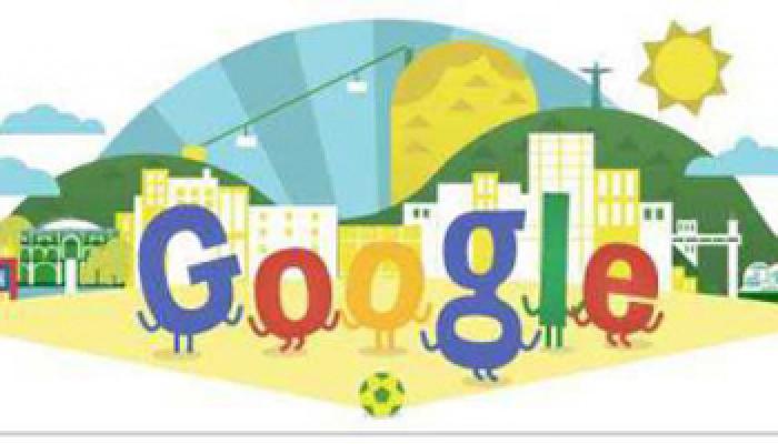 फुटबॉल वर्ल्ड कप-2014 पर गूगल ने बनाया डूडल