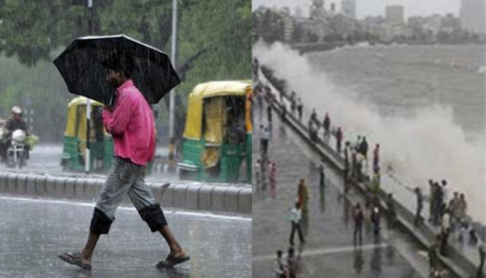 दिल्ली में तेज बारिश और ओले गिरे, मुंबई में सड़कों पर समंदर का पानी