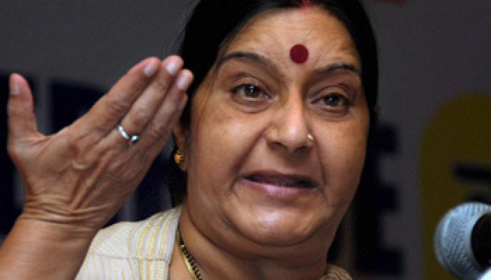 फलस्तीन पर भारत की नीति में कोई बदलाव नहीं : सुषमा