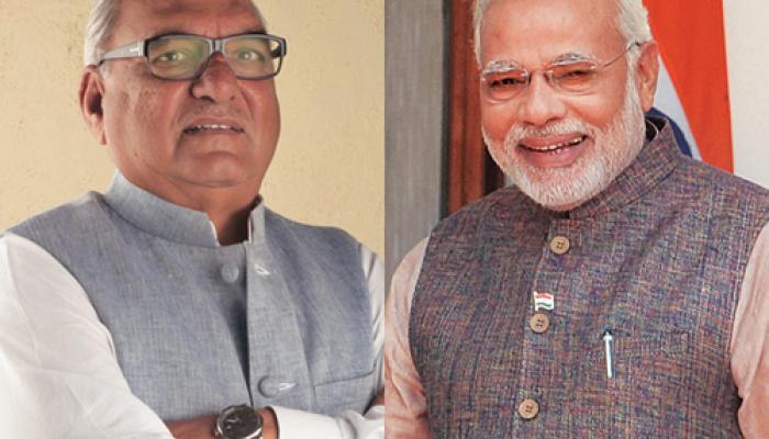 समारोह में हूटिंग के तीन दिन बाद प्रधानमंत्री नरेंद्र मोदी से मिले हुड्डा