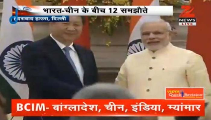 भारत और चीन के बीच 12 समझौतों पर हस्ताक्षर, दोनों देशों ने सीमा विवाद सुलझाने पर दिया जोर