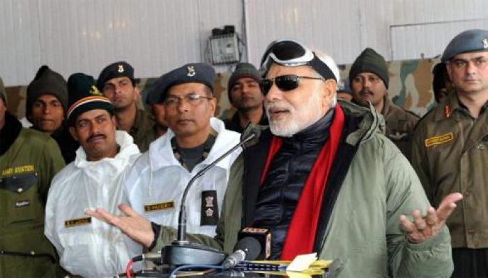 सियाचीन में सैनिकों से बोले PM मोदी-सभी भारतीय आपके साथ कंधा से कंधा मिलाकर खड़े हैं
