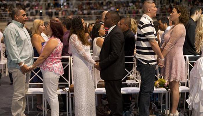 रियो में बही प्यार की बयार, करीब 4000 ने किया ब्याह