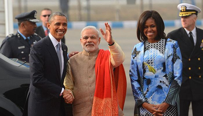 PM Narendra Modi welcomes Barack Obama