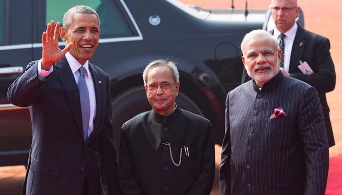 ओबामा ने कहा- 'नमस्ते', भारत में भव्य स्वागत के लिए आभार