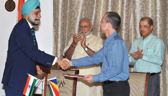 सुरक्षा सहयोग पर भारत-सेशेल्स में चार समझौतों पर हस्ताक्षर