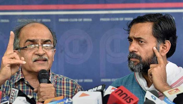 आम आदमी पार्टी से निकाले गए योगेंद्र, प्रशांत, आनंद कुमार और अजीत झा