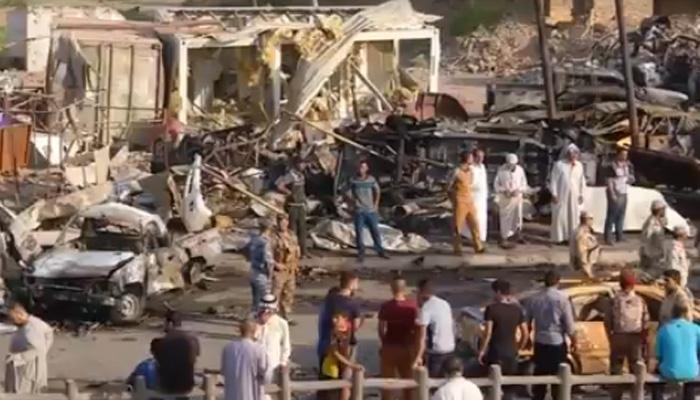 बाजार में हुए आत्मघाती हमले में 115 लोगों की मौत के बाद इराक में गुस्सा