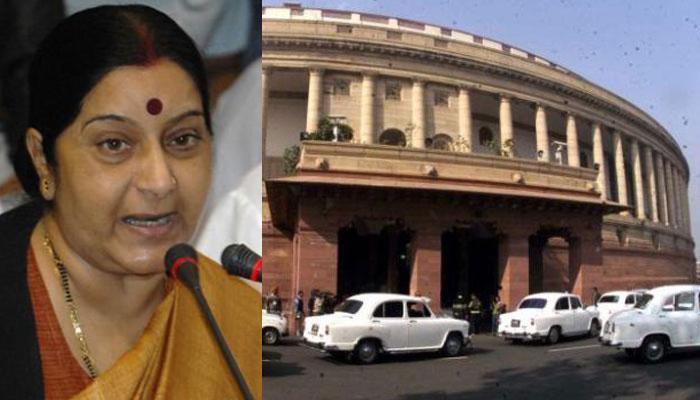LIVE: संसद में विपक्ष का हंगामा जारी, सुषमा बोलीं- ललित मोदी की सिफारिश कभी नहीं की, मेरे खिलाफ आरोप तथ्यहीन