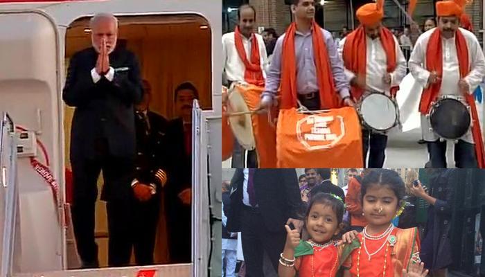 पीएम नरेंद्र मोदी पहुंचे अमेरिका, भारतीय समुदाय के लोगों ने न्यूयॉर्क में किया भव्य स्वागत